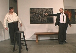 Randy Patterson and Jeffrey Siri in the Dumb Waiter