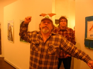 Chris Porter and Pat Moran in The Reindeer Monologues