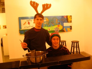 Marvin Gray and Conner Eifler in The Reindeer Monologues