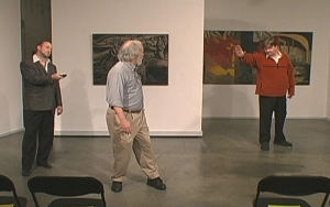 Bob Martin, Randy Patterson and Jeffrey Siri in Playwriting 101: The Rooftop Lesson