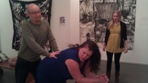 Samuel Holloway, Michelle Seaton, and Britt Harris in Wanda's Visit