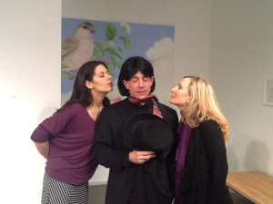 Kira Rodenbush, David Berkson, and Christy Drogosch in Two Precious Maidens Ridiculed