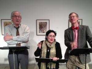 Curt Hanson as Jim Hannigan, Michele Mariana as Mrs. Hanratty, and Greg Alexander as Gabble Gibbon