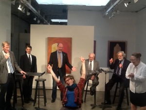 Greg Alexander as Colin, Marvin Gray as The Captain, Rick Sanders as Malcolm, Zeina Hamady as Jenkinson, George Fosgate as Glisan, Robert Projansky as Sanderson, and Sarah Dresser as The Cleaning Lady