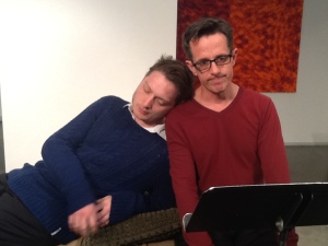 Chris Beatty and David Berkson in Mohammed and the Sleeping Cat